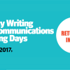 Charity Writing and Communications Training Days 2017