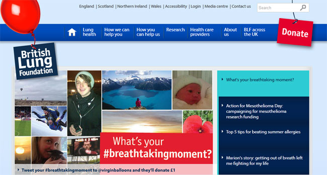 British Lung Foundation Website